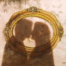 'Gli amanti' - Acrilici e olio su tela 100x70 - 2017