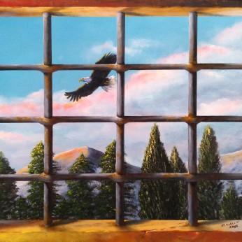 'Prigioniera' - Acrilici e olio su tela 80x60 - 2016