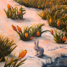 'Risveglio di primavera' - Acrilici e olio su tela 100x70 - 2015