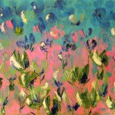 'Tulipani' - Acrilici e olio su tela 100x70 - 2017