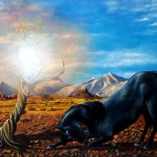 'L'incontro' - Acrilici e olio su tela 120x90 - 2015