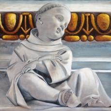 'Omaggio al Serpotta' - Acrilici e olio su tela 60x80 - 2017