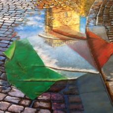 'Quale Italia' - Acrilici e olio su tela 80x60 - 2011