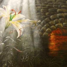 'San Sebastiano' - Acrilici e olio su tela 100x50 - 2011