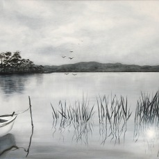 'Silenzio' - Acrilici e olio su tela 80x60 - 2016