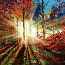 'Tramonto nel bosco' - Olio su tela 100x70 - 2015