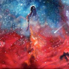 'In cammino' - Acrilici e olio su tela 70x50 - 2013