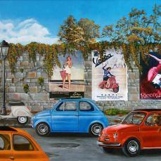 'Italia al volante' - Acrilici e olio su tela 100x80 - 2013