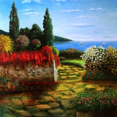 'Terrazza su mare' Olio su tela 70x70 - 2010